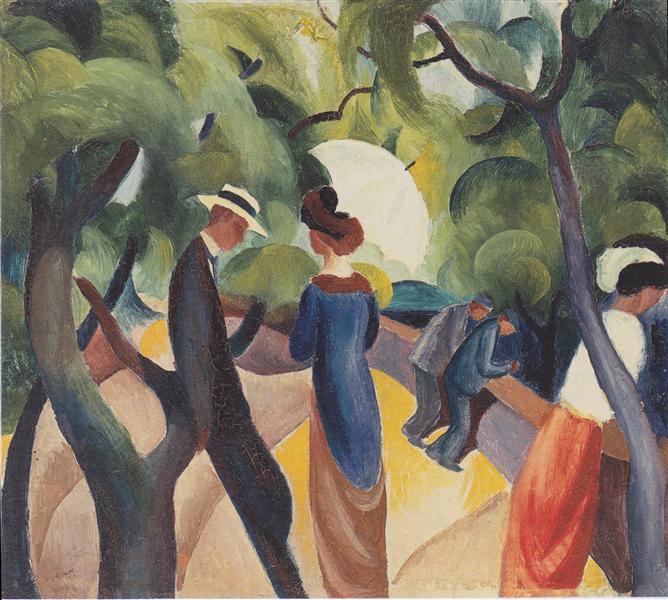 Promenade, 1913 - August Macke