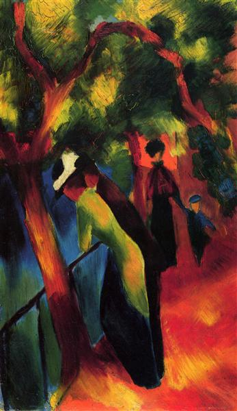 Sunny way, 1913 - August Macke