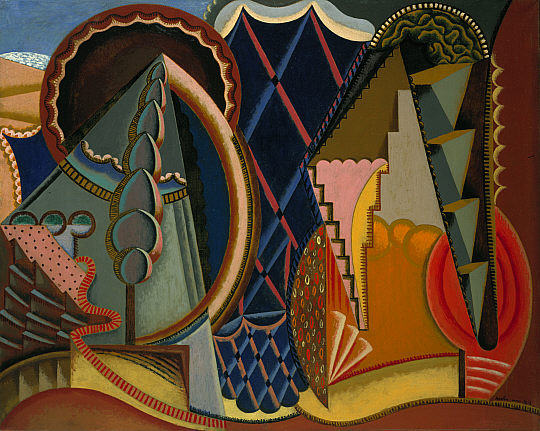 Composition, Landscape at Ceret, 1919 - Auguste Herbin