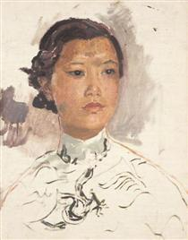 Portrait of a Chinese Woman - Огастес Эдвін Джон
