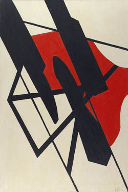 Black and Red Tension, 1935 - Balcomb Greene