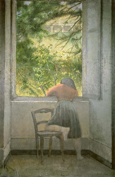 Girl at the window, 1955 - Balthus