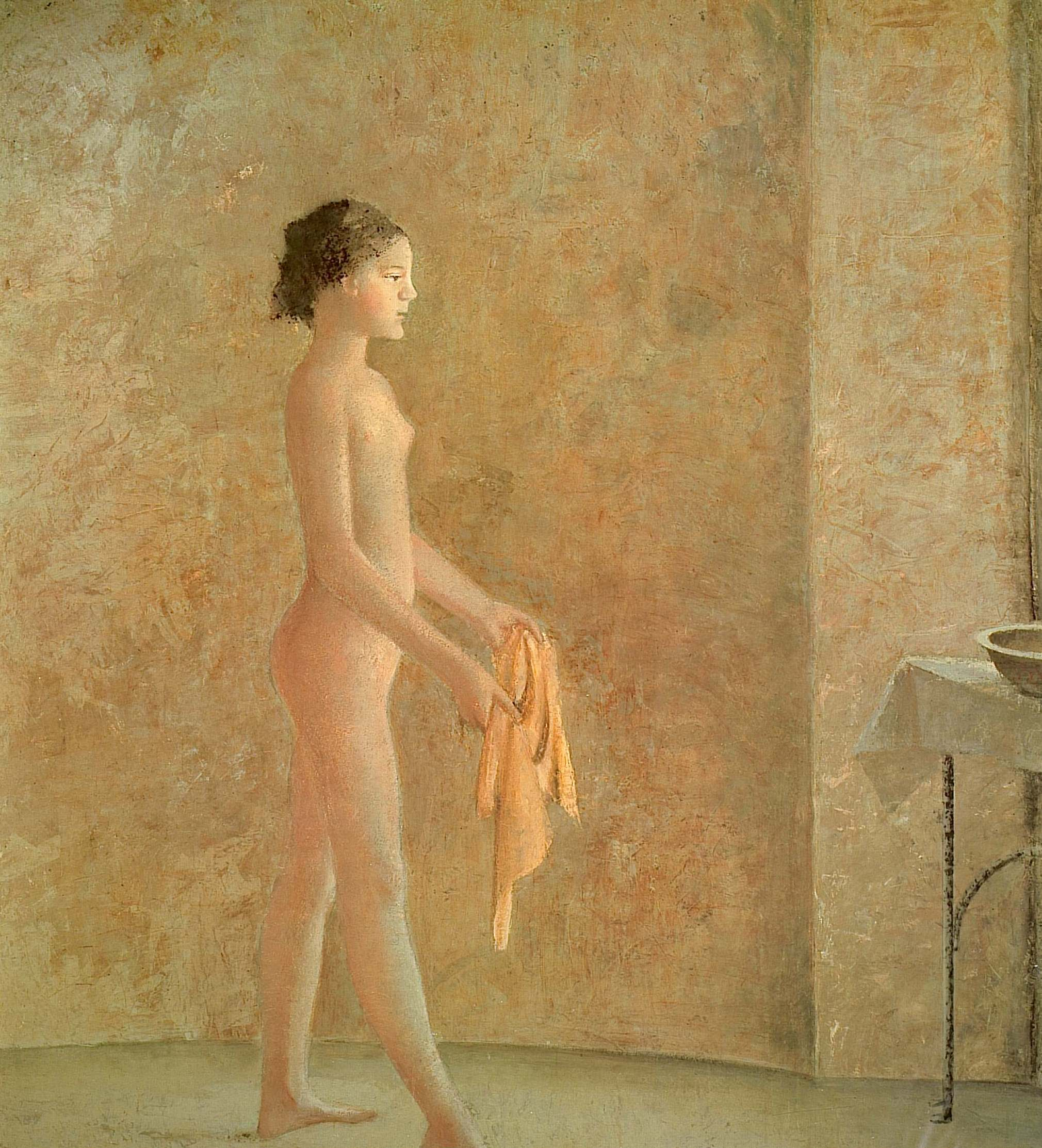 painter and reclining model, 1942 - rafael zabaleta - wikiart