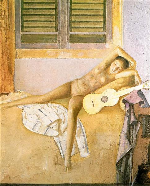 Nude with a Guitar, 1986 - Balthus