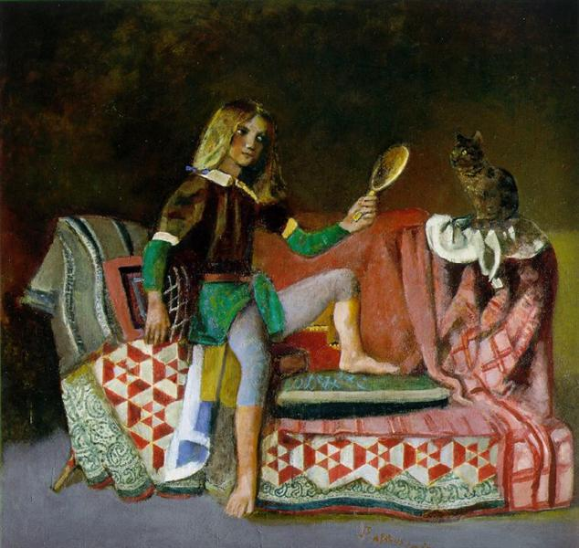 The Cat in the Mirror, c.1990 - Balthus