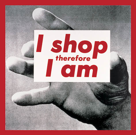 Untitled (I shop therefore I am), 1987 - Barbara Kruger