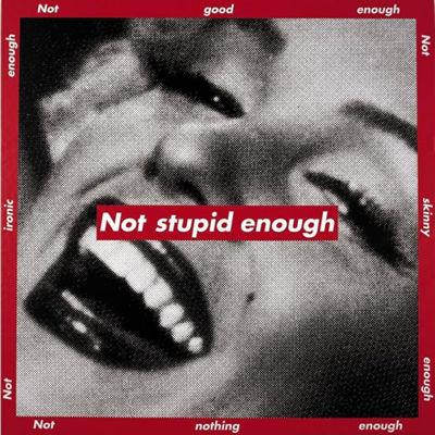 Untitled (Not stupid enough) - Barbara Kruger
