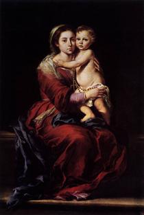 The Virgin of the Rosary - Bartolomé Esteban Murillo
