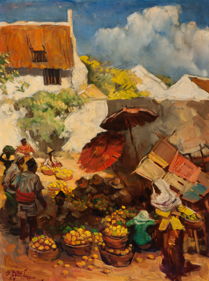 The Fruit Market - Basuki Abdullah