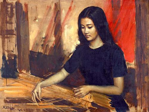 Weaving - Basuki Abdullah