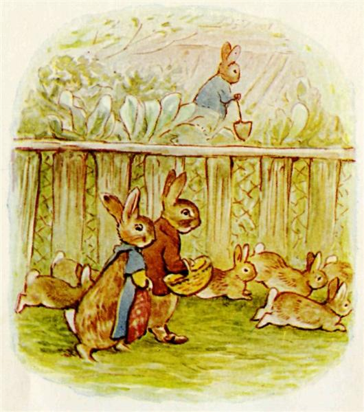 Benjamin and Flopsy Bunny - Beatrix Potter