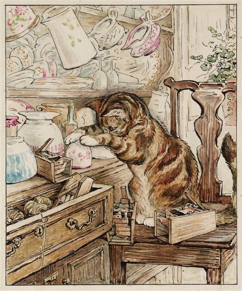Simpkin Housekeeping, 1902 - Beatrix Potter