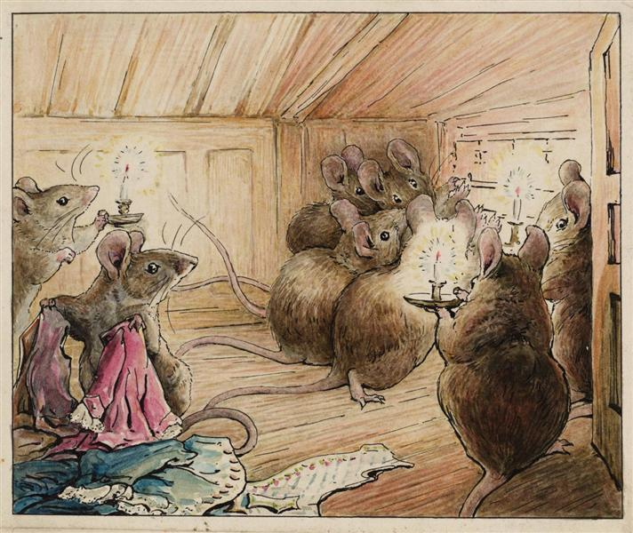 The Mice Hear Simpkin Outside, 1902 - Beatrix Potter