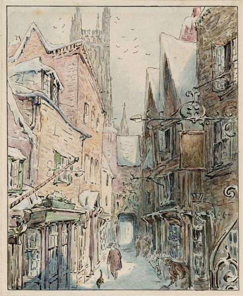 The Tailor and Simpkin Set Out for the Shop - Beatrix Potter