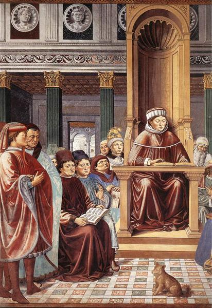St. Augustine Reading Rhetoric and Philosophy at the School of Rome (detail), 1464 - 1465 - Benozzo Gozzoli
