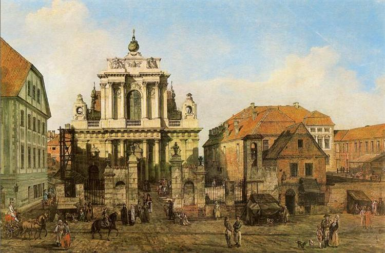 Carmelite Church in Warsaw, 1780 - Bernardo Bellotto