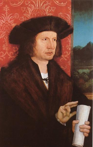 Portrait of Georg Tannstetter (Collimitius), c.1515 - Bernhard Strigel