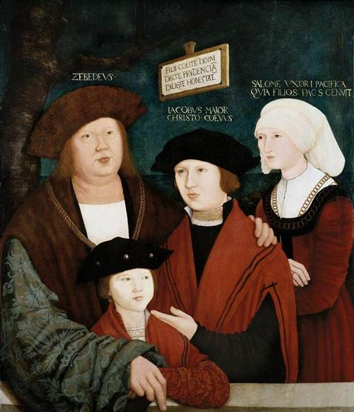 Portrait of the Cuspinian Family - Bernhard Strigel