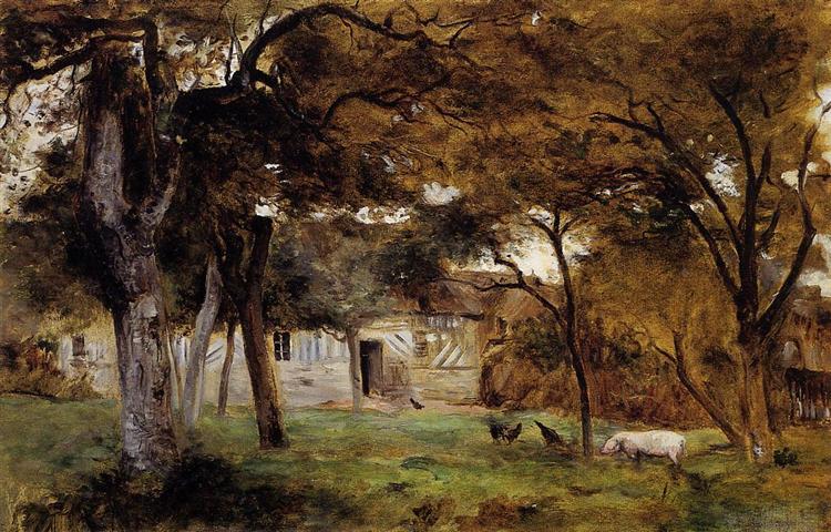 Farm in Normandy, 1859 - 1860 - Берта Моризо