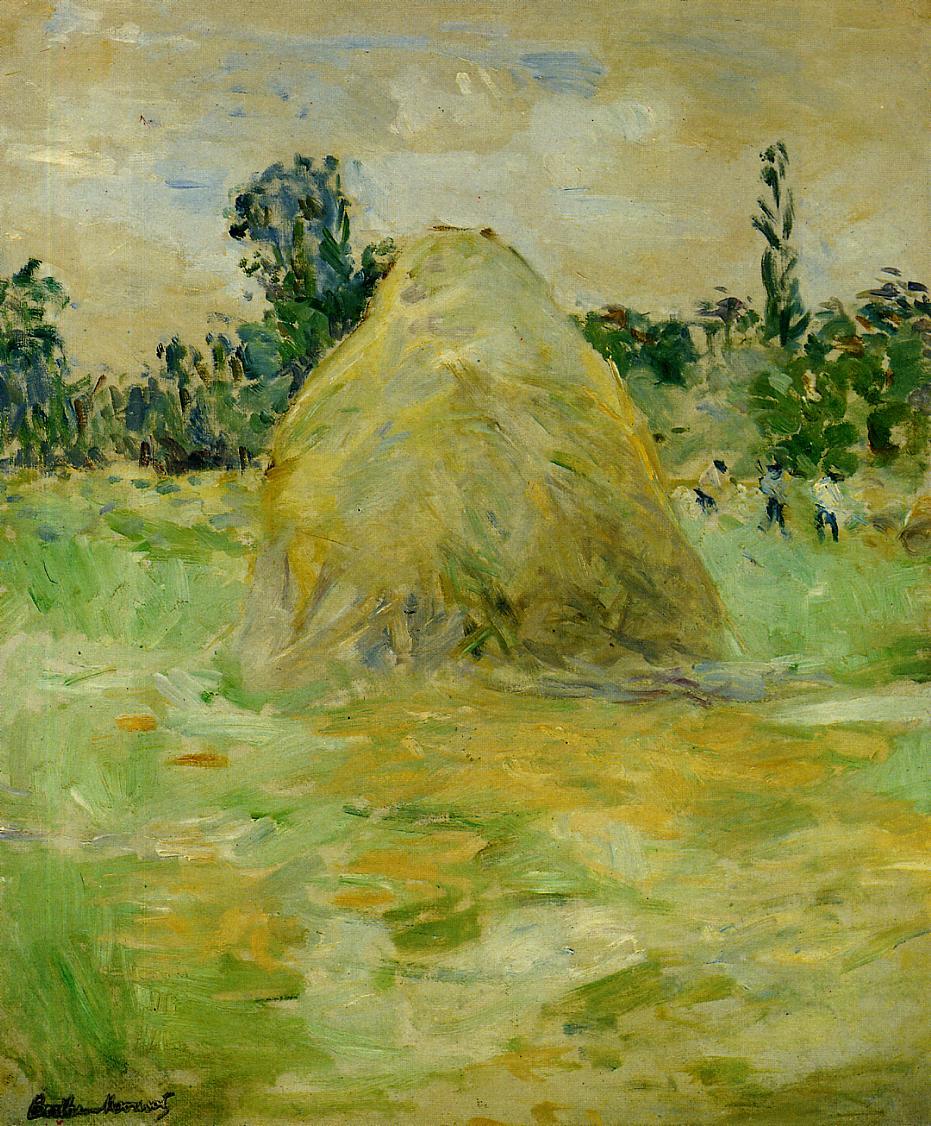 Haystack, 1883 - Berthe Morisot - WikiArt.org