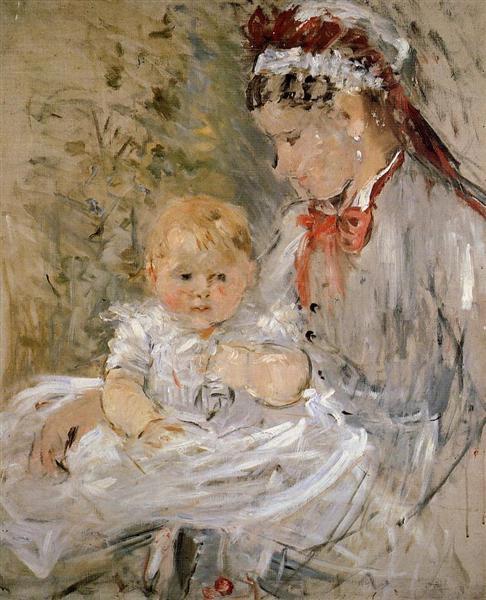 Julie Manet and her Nurse, 1880 - Berthe Morisot