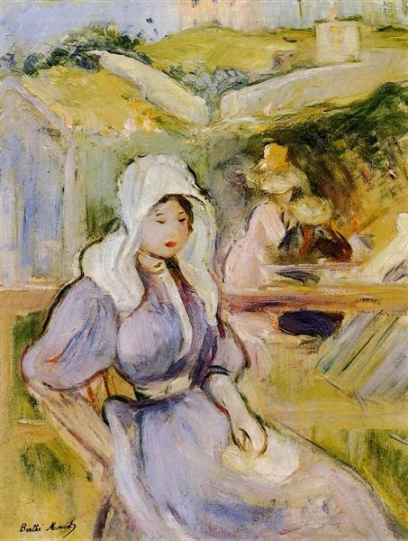 On the Beach at Portrieux, 1894 - Berthe Morisot