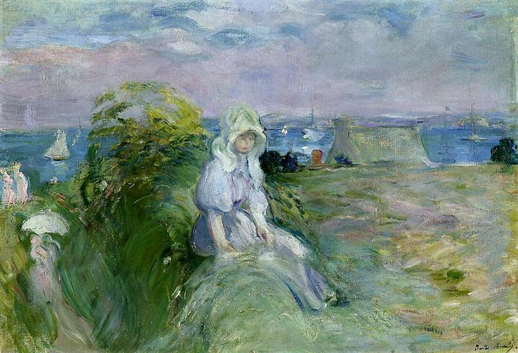 On the Cliff at Portrieux, 1894 - Berthe Morisot