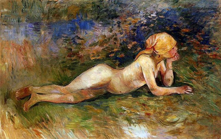 The Reclining Shepherdess, 1891 - Berthe Morisot
