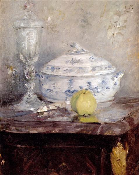 Tureen And Apple, 1877 - Berthe Morisot