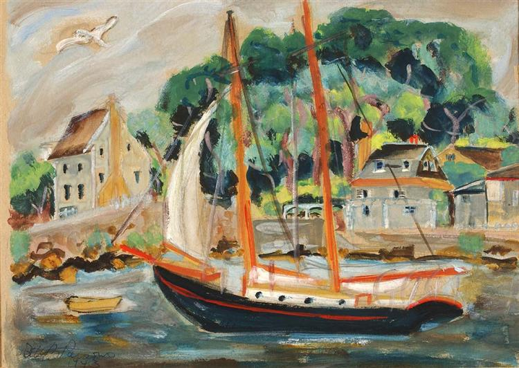 Sailboat, Rockport - Betty Parsons