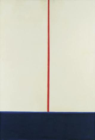 Komposition Blau-Rot auf Weiss, 1965 - Blinky Palermo