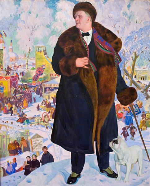 Portrait of Fyodor Chaliapin, 1921 - Borís Kustódiev