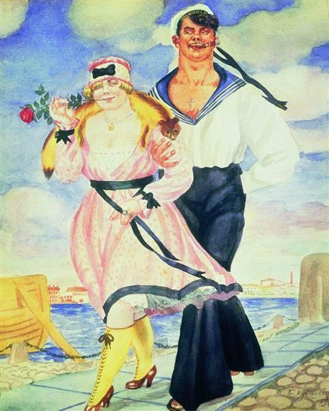 Sailor and His Girl, 1920 - Boris Kustodiev