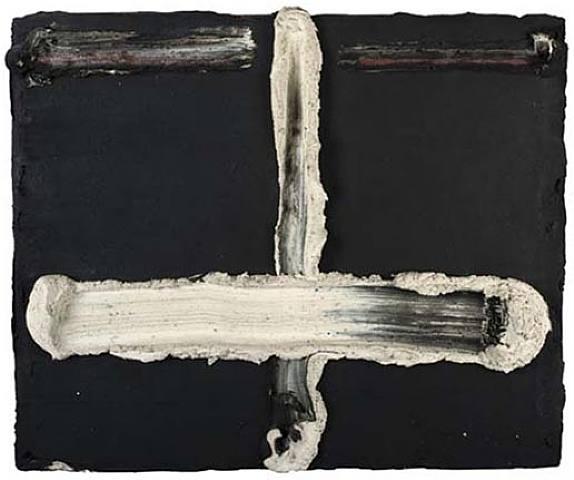 Kruis Wit Zwart, 1965 - Bram Bogart