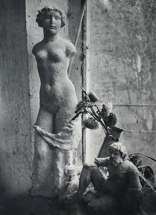 In Aristide Maillol's Studio, 1936