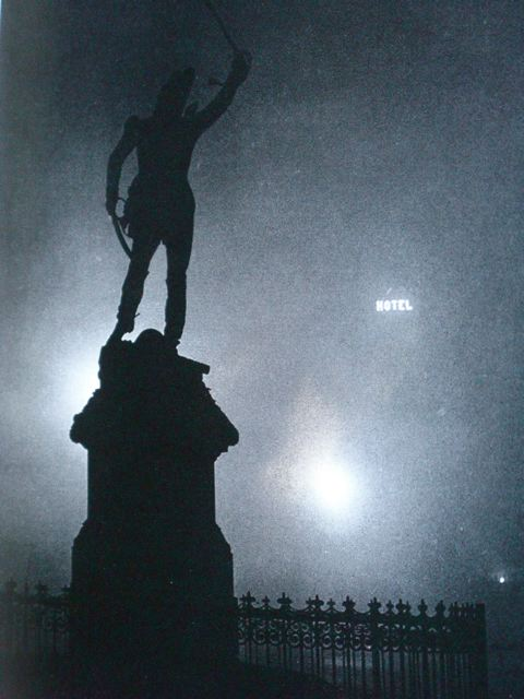 Statue of Marshall Ney in the Fog