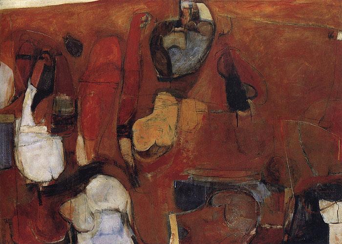 Sin título Pintura roja - Brett Whiteley