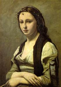 The Woman with a Pearl - Camille Corot
