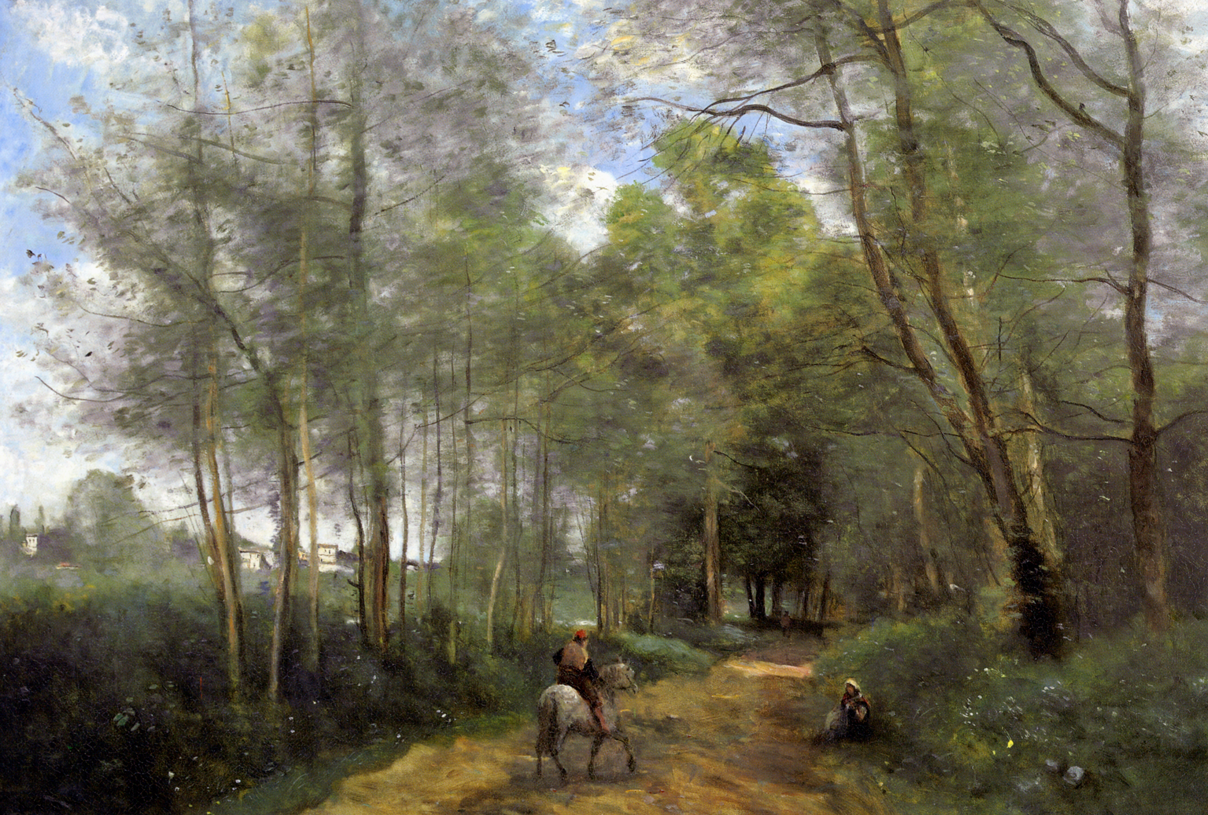Ville d 39 avray 1873 camille corot for Camille corot