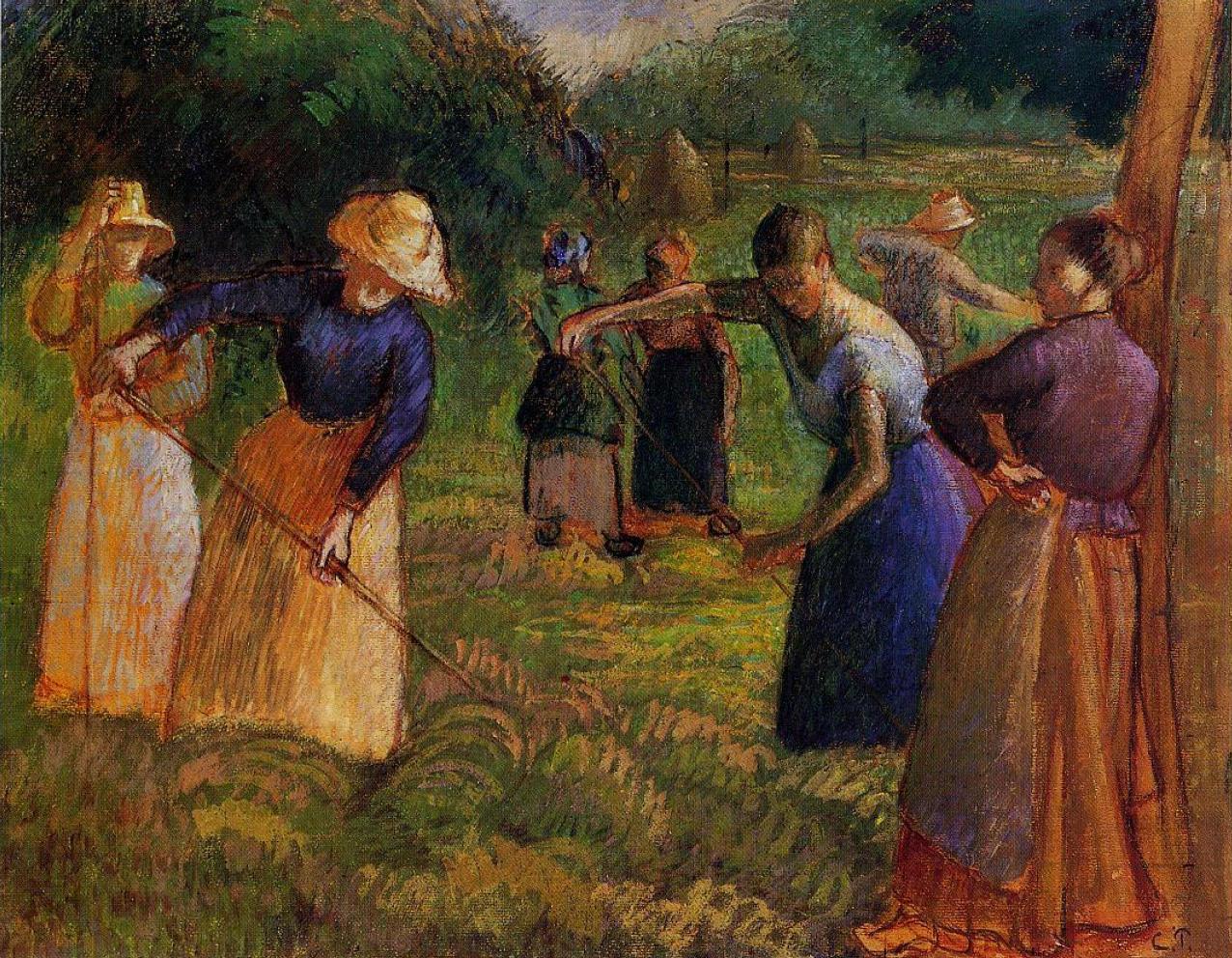 Haymaking In Eragny 1901 Camille Pissarro