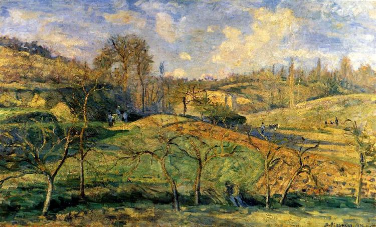 March Sun, Pontoise, 1875 - Camille Pissarro