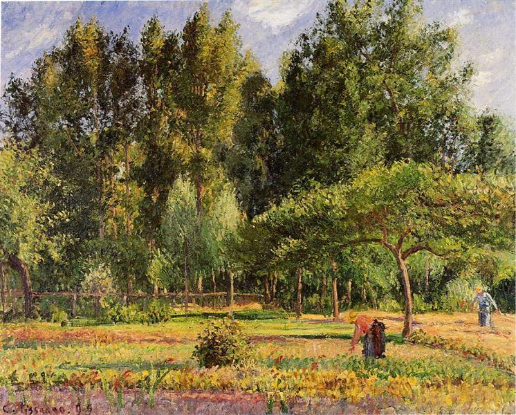Poplars Afternoon In Eragny 1899 Camille Pissarro