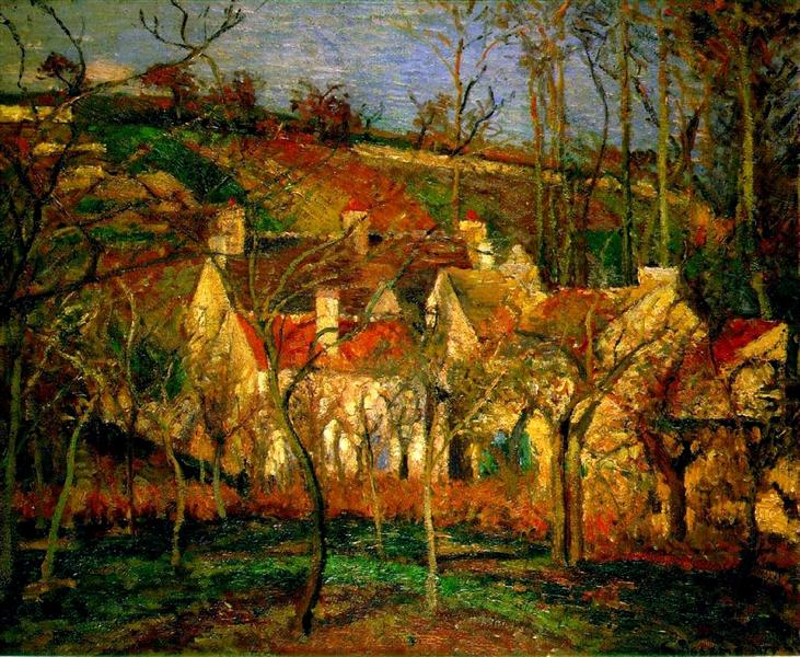 Red Roofs Corner Of A Village Winter 1877 Camille