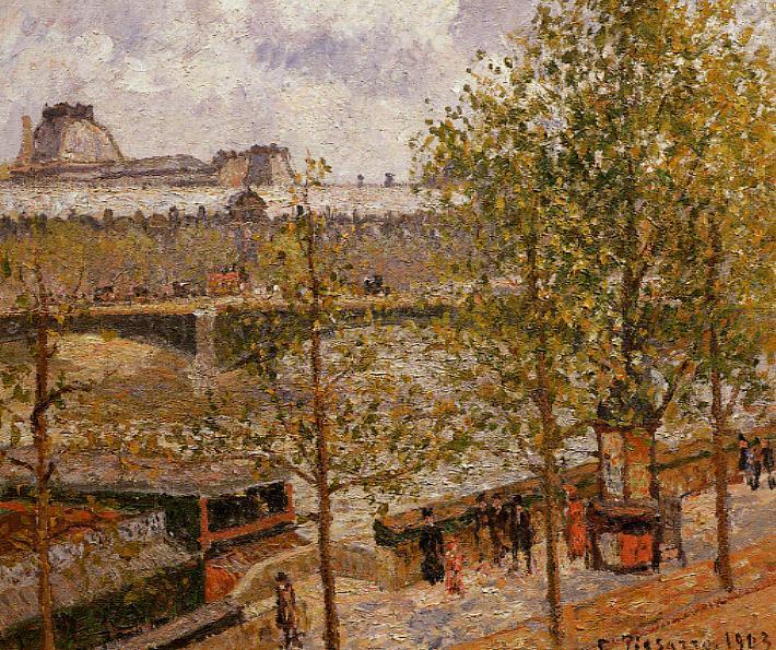 The Louvre, Morning, Sun, Quai Malaquais, 1903 - Каміль Піссарро