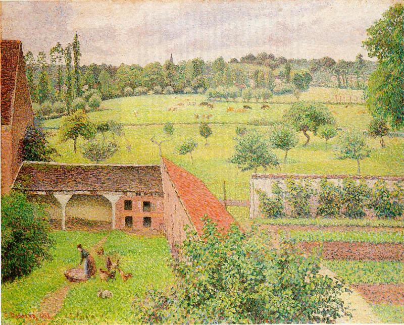 View Through A Window Eragny 1888 Camille Pissarro