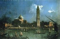 Festa notturna fuori dalla chiesa di San Pietro di Castello - Canaletto