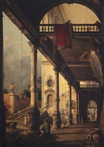Prospettiva con un portico - Canaletto