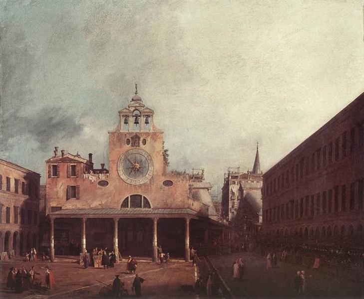 San Giacomo di Rialto, c.1726 - Canaletto