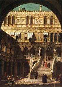 Scala dei Giganti - Canaletto