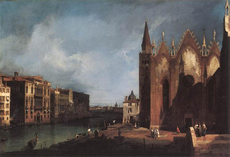 The Grand Canal near San Maria della Carità, 1726 - Canaletto